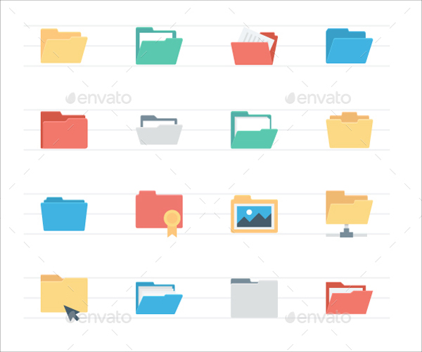 Flat Files and Folders Icons