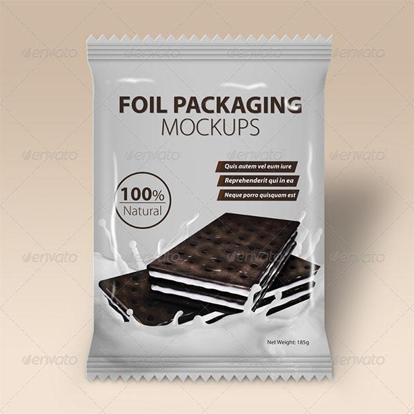 Foil Packaging Mockups Design