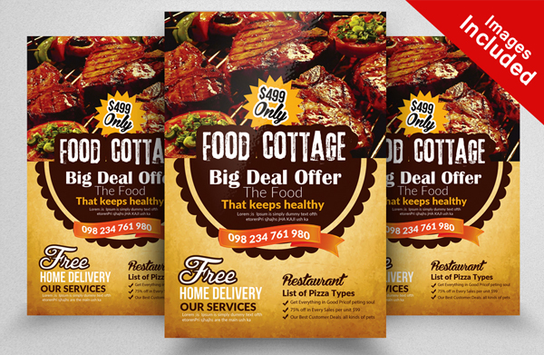 Food Cottage Restaurant Flyer