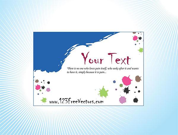 Free Artistic Business Card Design Template