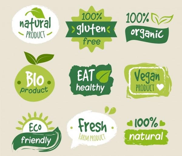 Free Colorful Organic Food Logos