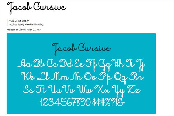 Free Download Jacob Cursive Font