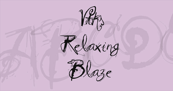 Free Download Relaxing Blaze Cursive Handwriting Font