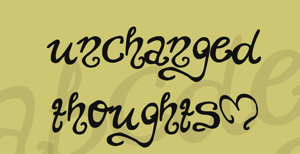 Free Download Unchanged Thoughts Font