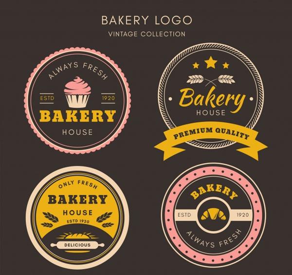 Free Download Vintage Style Bakery logos