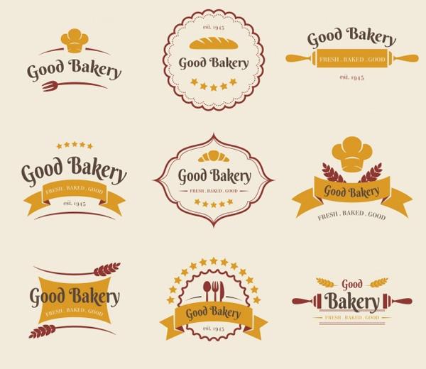 Free Flat Bakery Logos