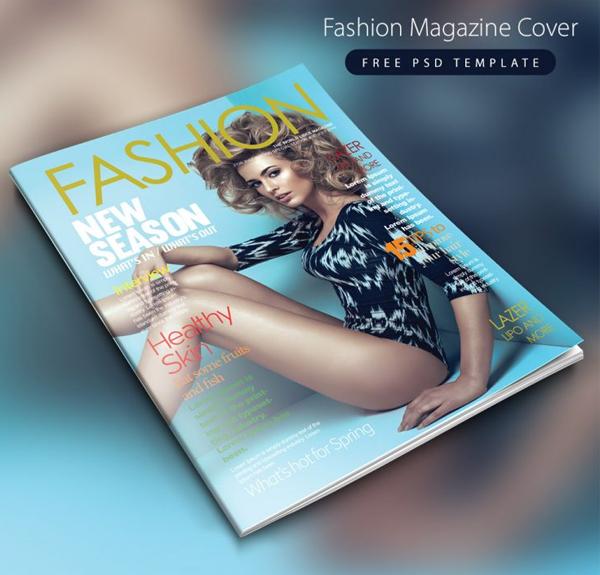 Free PSD Fashion Magazine Cover Template