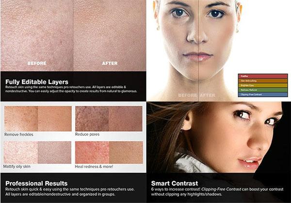 Free Skin Retouching Actions