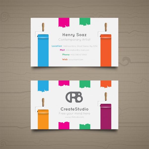 Free Vector Art Business Card Template