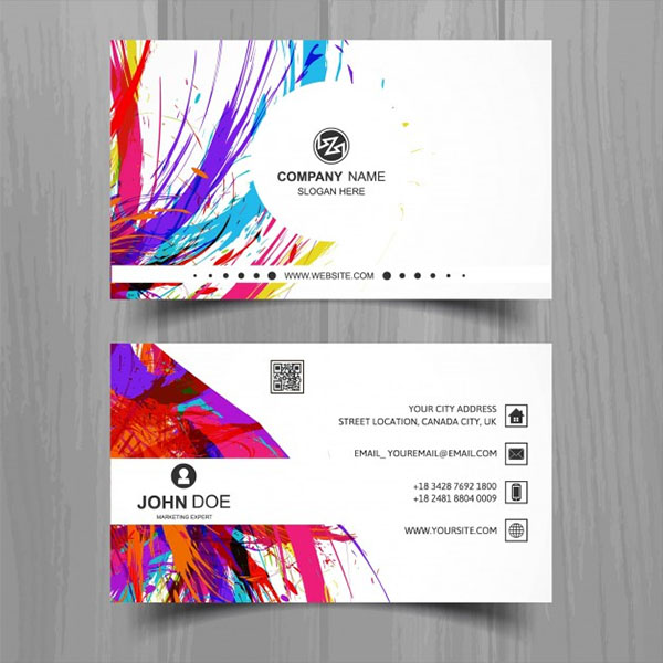 Free Vector Artistic Business Card Design