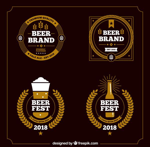 Free Vector Beer Bar Logo Templates