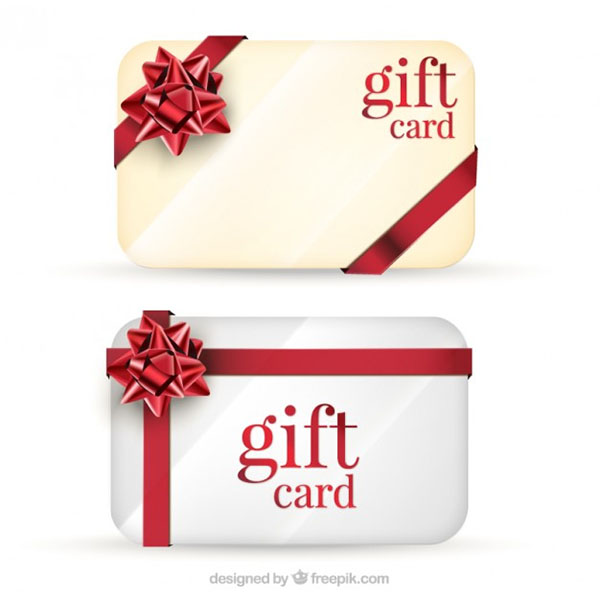 Free Vector Blank Gift Cards Pack