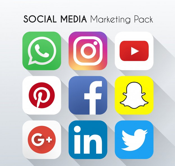 Free Vector Social Networking App Icons