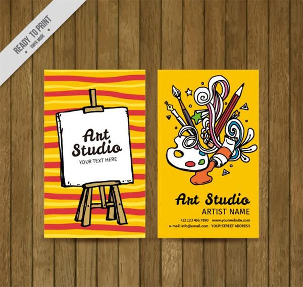 Free Vector Colorful Art Studio Logo