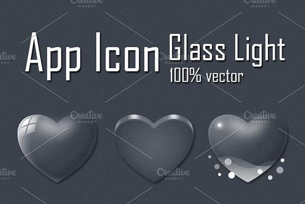 Glass App Icon Designs
