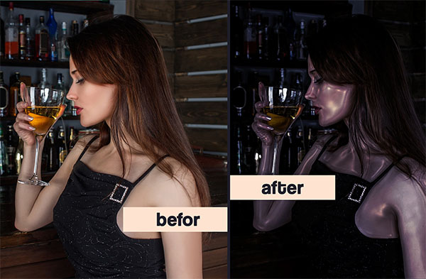 Glossy Skin Photoshop Action