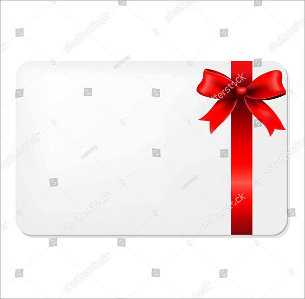 Gradient Mesh Blank Gift Voucher Template