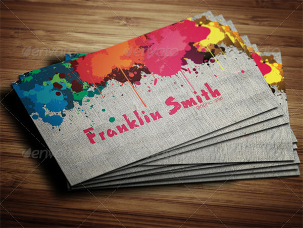Graphic and Paint Artist Business Card