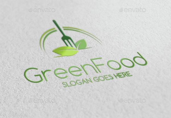 Green Food Logo Design