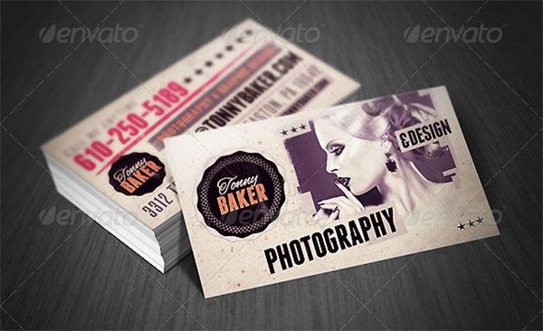 Grunge Artistic Business Card