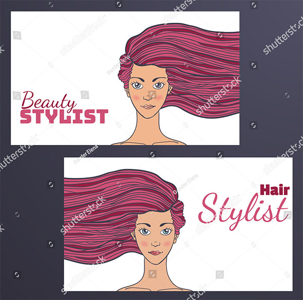 Hair Stylist Vector Gift Voucher