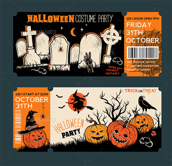 Halloween Vintage Party Banner Templates