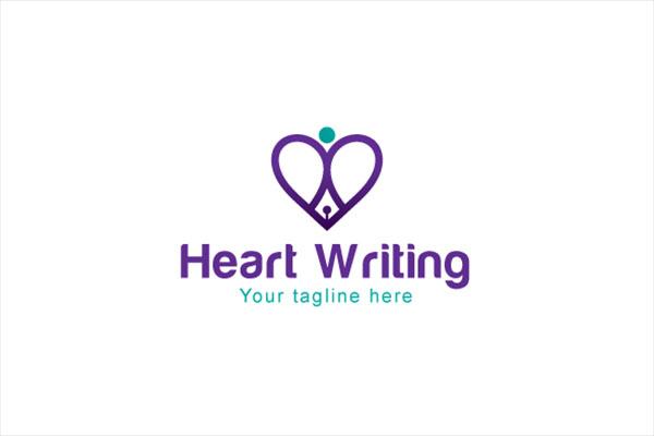 Heart Writing Logo