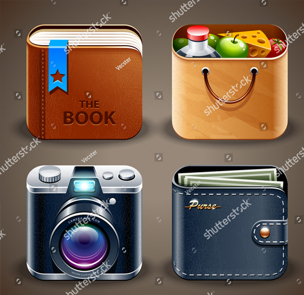 High Detailed Apps Icons Set