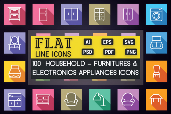 Home Appliances and Furniture Icons