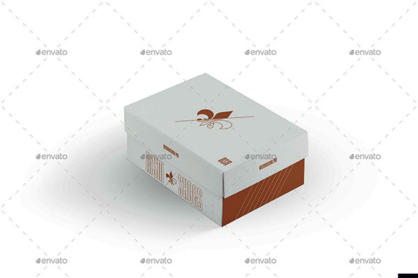 3D Shoes Box Mock-up