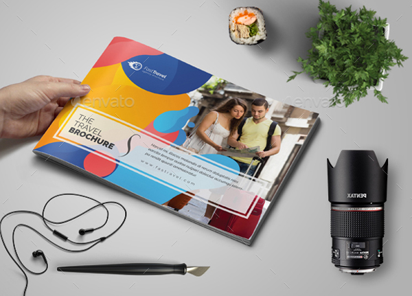 A5 Travel Agency Brochure Template