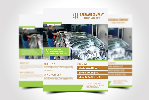 Auto Clean Flyer Template