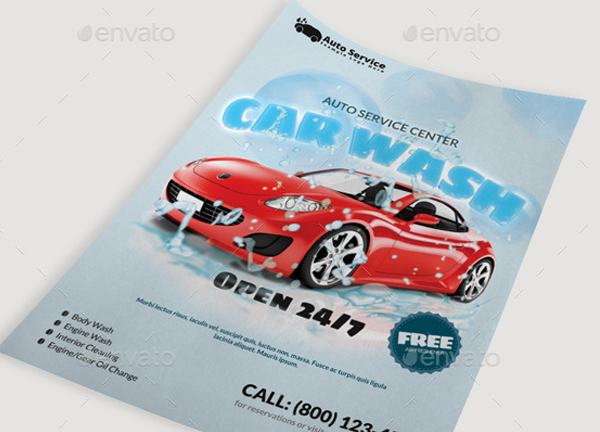Auto Service Center Flyer Template