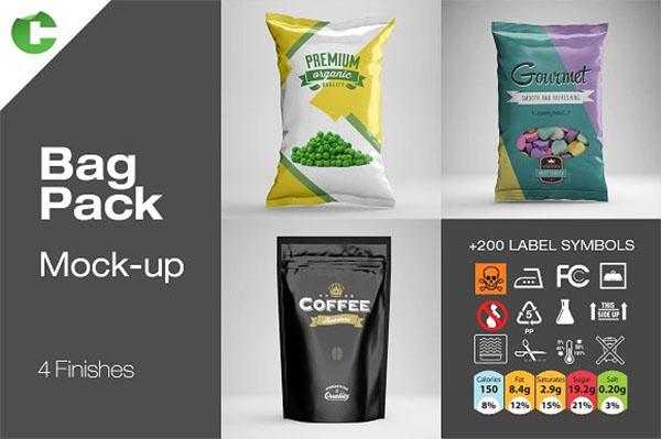 Bag Pack Mockup Design Template
