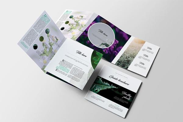 Beautiful Square Garden Service Brochure
