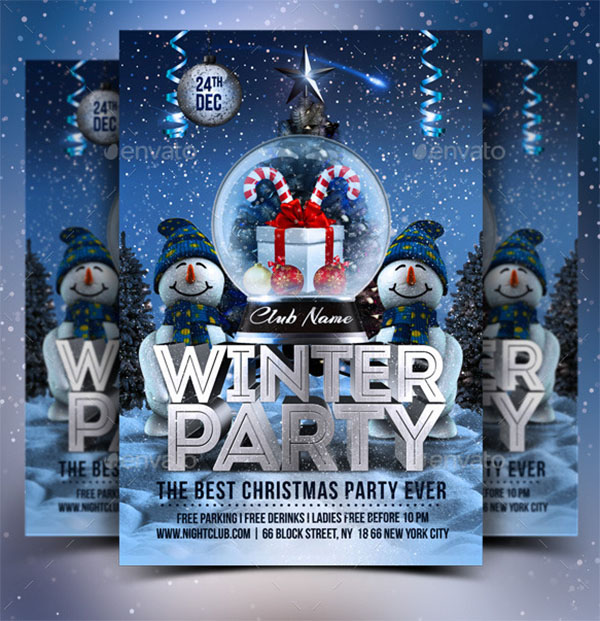 Best Winter Party Flyer