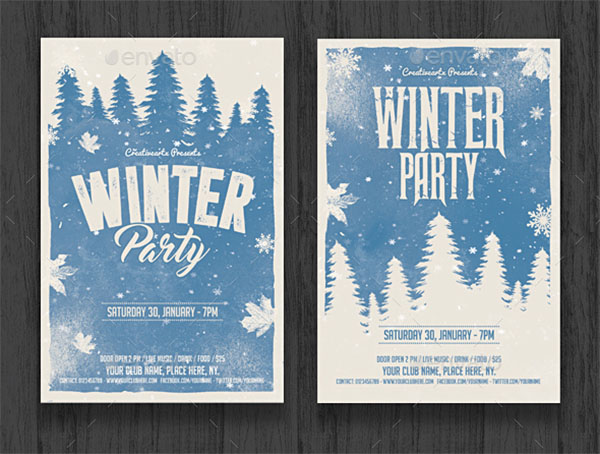 Canvas Winter Party Flyer