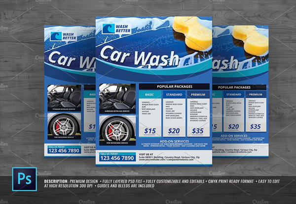 Car Care Flyer Template