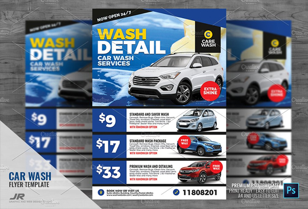 Car Wash Detailing Flyer