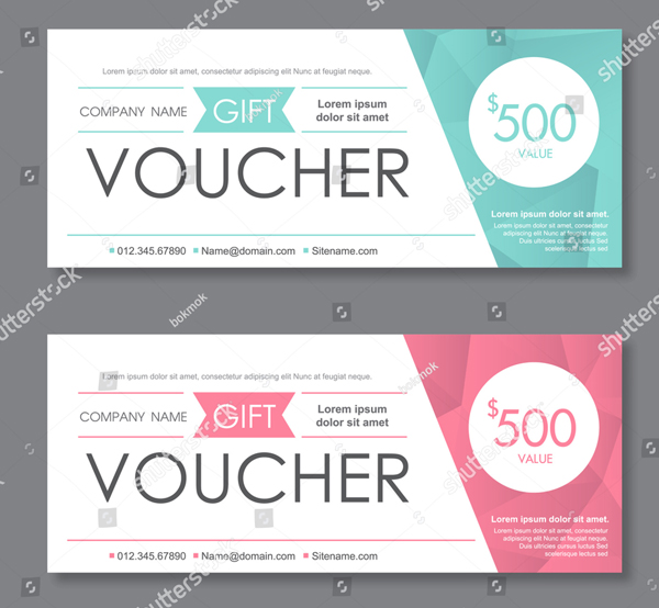 Clean and Modern Gift Voucher Templates