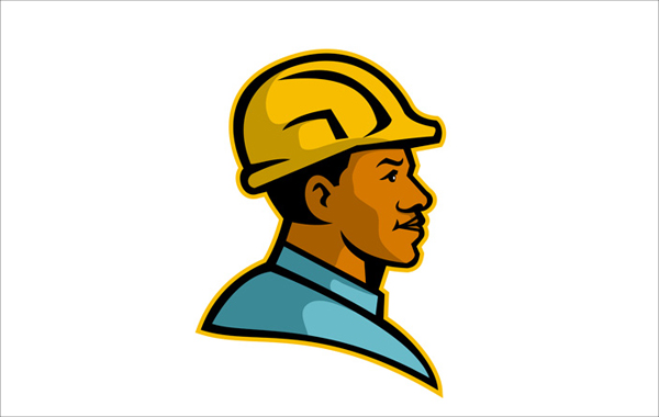 Construction Worker Man Logo