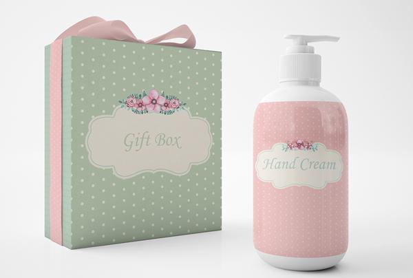 Cosmetics and Gift Box Mockup Set