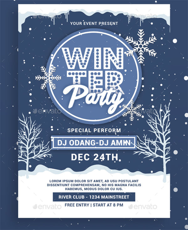 DJ Winter Party Flyer