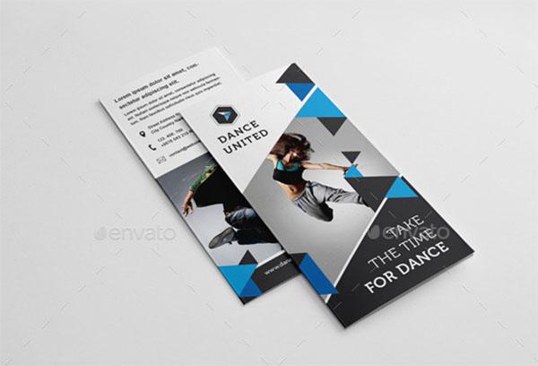 Dance Studio Trifold Brochure Template