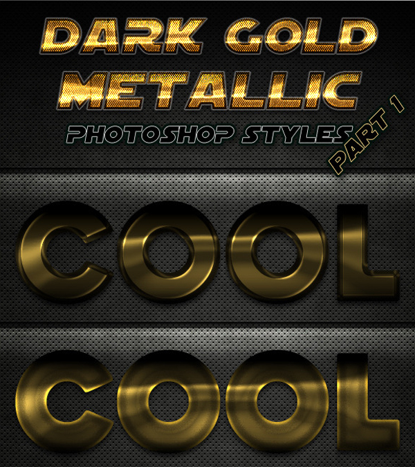 Dark Gold Metallic Photoshop Styles