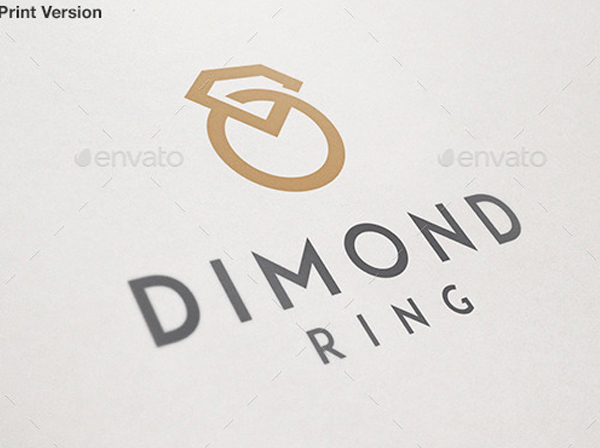 Diamond Ring Jewelry Logo