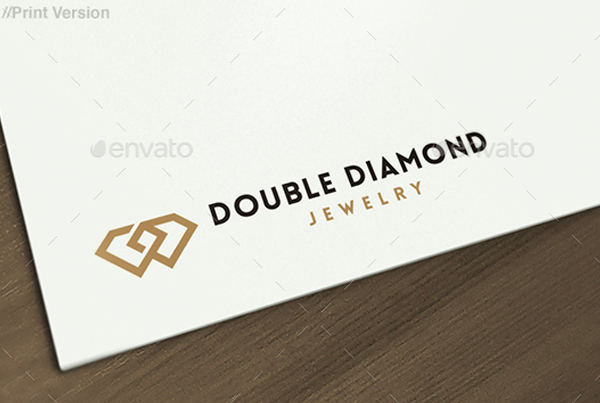 Double Diamond Jewelry Logo Design