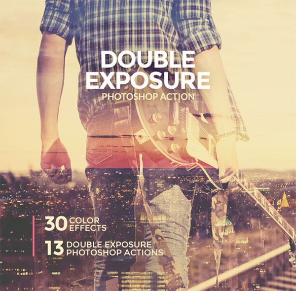 Double Exposure Digital Photoshop Action