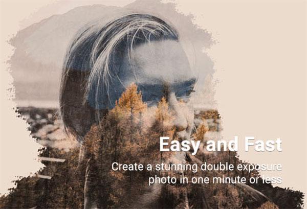 Double Exposure Photoshop Action Designs Templates