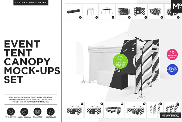Event Tent Canopy Mock-up